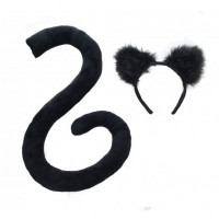 Black Ears & Tail Set