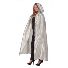 Hooded Silver Cape