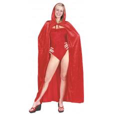 Hooded Red Velvet Cape