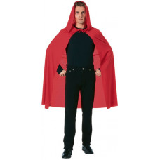 """45"""" Red Hooded Cape"""