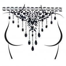 Masquerade Choker Rhinestone Stick-On Jewels