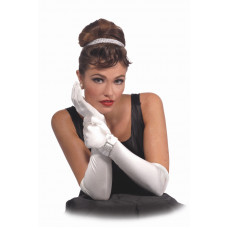 Satin Gloves with Bow Buckle