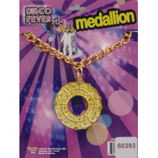 70's Disco Medallion Necklace