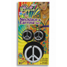 Peace Sign Necklace & Earrings Set