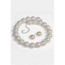 Pearl Necklace & Earrings Set