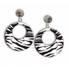 80's Zebra Print Earrings
