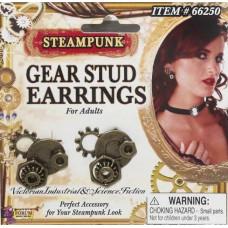 Steampunk Gear Stud Earrings