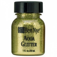 Aqua Glitter - Gold