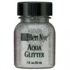 Aqua Glitter - Silver