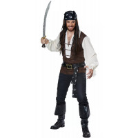 High Seas Adventurer Plus Size Pirate Costume