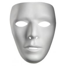 White Blank Male Mask