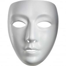White Blank Female Mask