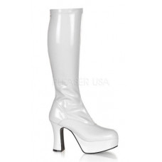 White Platform GoGo Boots