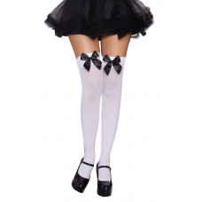 Sheer Thigh Highs w/Bow