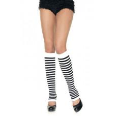 Opaque Striped Leg Warmers