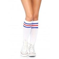 Athletic Striped Knee High Socks