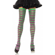 Opaque & Sheer Striped Stockings