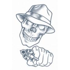 Stick Up Skull Tattoo