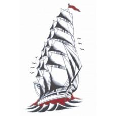 1920 Sailor Ship Tattoo