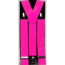 Neon Pink Suspenders
