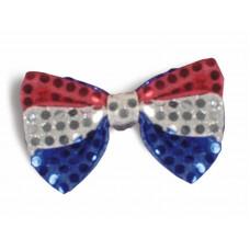 Patriotic Sequin Bow Tie
