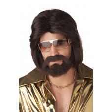 Sexy 70's Man Wig, Beard & Mustache