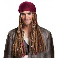 Captain Jack Sparrow Bandana With Hair