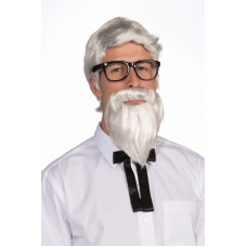 Southern Colonel Wig & Beard Set