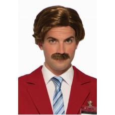 Ron Burgundy Wig & Mustache