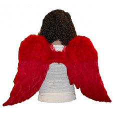"""30"""" Red Feather Wings"""