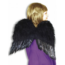"""20"""" Black Feather Wings"""