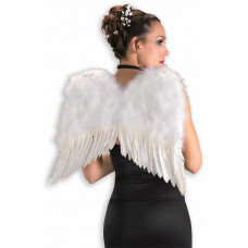 """22"""" White Feather Wings"""