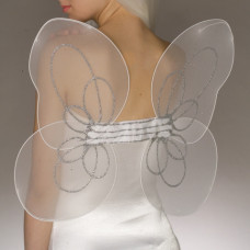 White Angel Wings and Halo