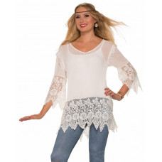 Hippie Gauze Crochet Shirt