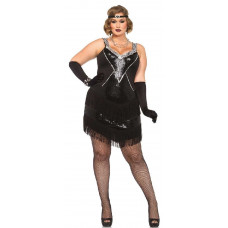 Glamour Flapper Plus Size Costume