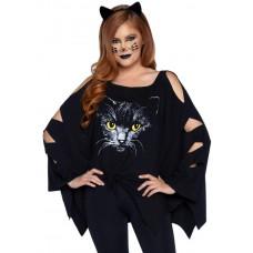 Cat Poncho Set