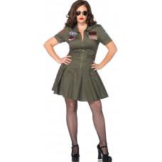 Top Gun Flight Dress Plus Size Costume
