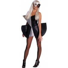 Lady Gaga Black Sequin Dress